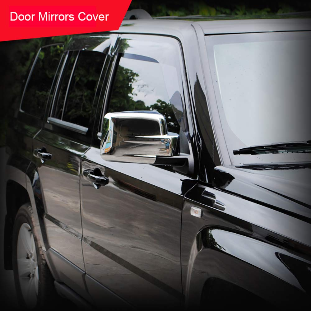 Auto Exterior Door Rear View Mirror Cap Trim Cover ABS Chrome 2PCS//SET