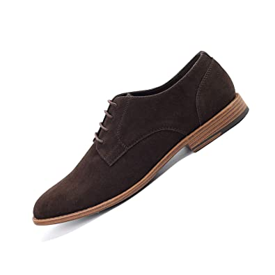 well known 100% high quality competitive price Nimbishoes Classical Men's Suede Formal Dress Oxford Shoes British Leather  Derby Shoes for Men Business Ankle Work Casual Shoes Lace-up,Rubber Sole