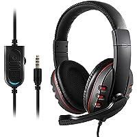 Domary Fone de ouvido estéreo para jogos T-997 com microfone para PS4 PC laptop com cancelamento de ruído sobre a orelha…