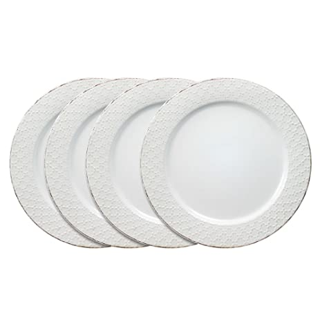 Pfaltzgraff French Lace White Dinner Plates Set of 4  sc 1 st  Amazon.com & Amazon.com | Pfaltzgraff French Lace White Dinner Plates Set of 4 ...