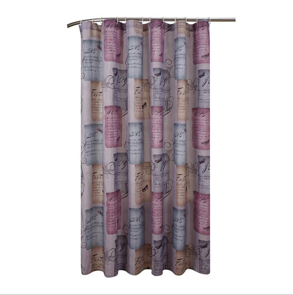 JaHGDU Shower Curtain 1pcs Printing Shower Curtain Polyester Material Mildewproof Thickened Durable Washable Toilet Shade Bathroom Amenities No Deformation Does Not Fade (Size : 70x79inch)
