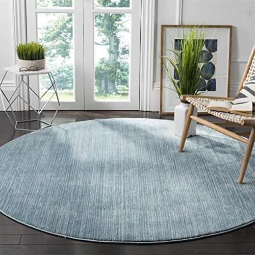 Safavieh Vision Collection VSN606B Aqua Blue Tonal Round Area Rug (6'7