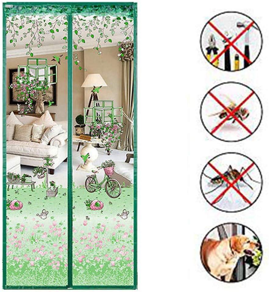 Verde Puertas Puertas de Malla para Mosquitos F/ácil de Instalar sin taladrar LIBWX Puerta magn/ética para mosquiteras Puerta con mosquitero de Malla para Redes ,70CM*200CM