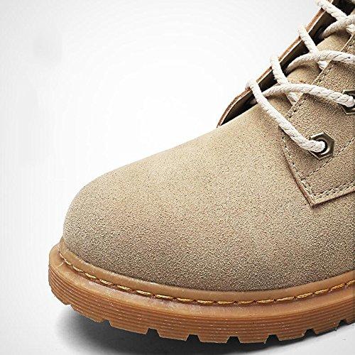 Men's Shoes Feifei Outdoor Martin Boots Keep Warm Fashion 3 Colors (Size Multiple Choice) (Color : 01, Size : EU42/UK8.5/CN43)