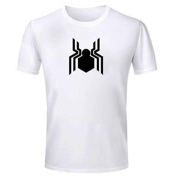 f758d786d Wild Thunder Men Cotton Spider, Man, Logo Printed T Shirt Small 36 Size  White