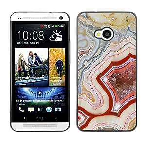 Be Good Phone Accessory // Dura Cáscara cubierta Protectora Caso Carcasa Funda de Protección para HTC One M7 // Pattern Geology Rock Red Nature