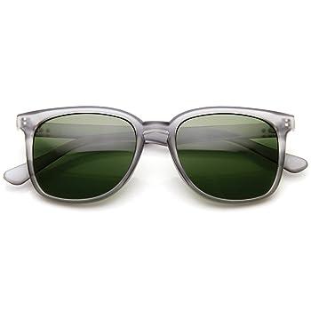 Classic Square Dapper Lifestyle Basic Frame Horn Rimmed Sunglasses