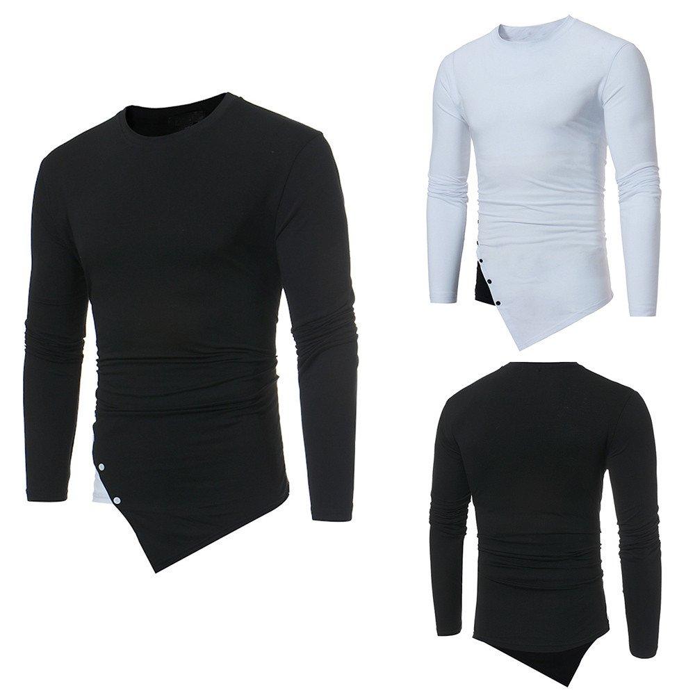 Hombre blusa manga larga Otoño,Sonnena ❤ Camisa de manga larga casual para hombre Camisa de remiendo irregular O-Neck Blusa superior: Amazon.es: Hogar