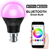 MagicHue Bluetooth Smart LED Light Bulb - Smartphone Controlled Sunrise Wake Up Lights - Dimmable Multicolored Color Changing Party Lights Bulb - 7.5 Watts B22 (60Watts Equivalent) …