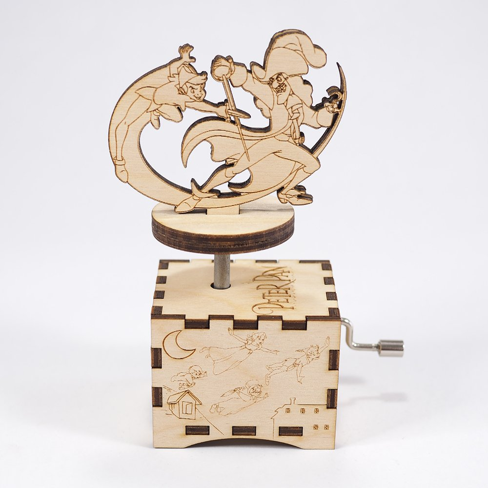 Peter Pan Music Box - You Can Fly! - Laser cut and laser engraved wood music box. Perfect gift, memorabilia or collectible