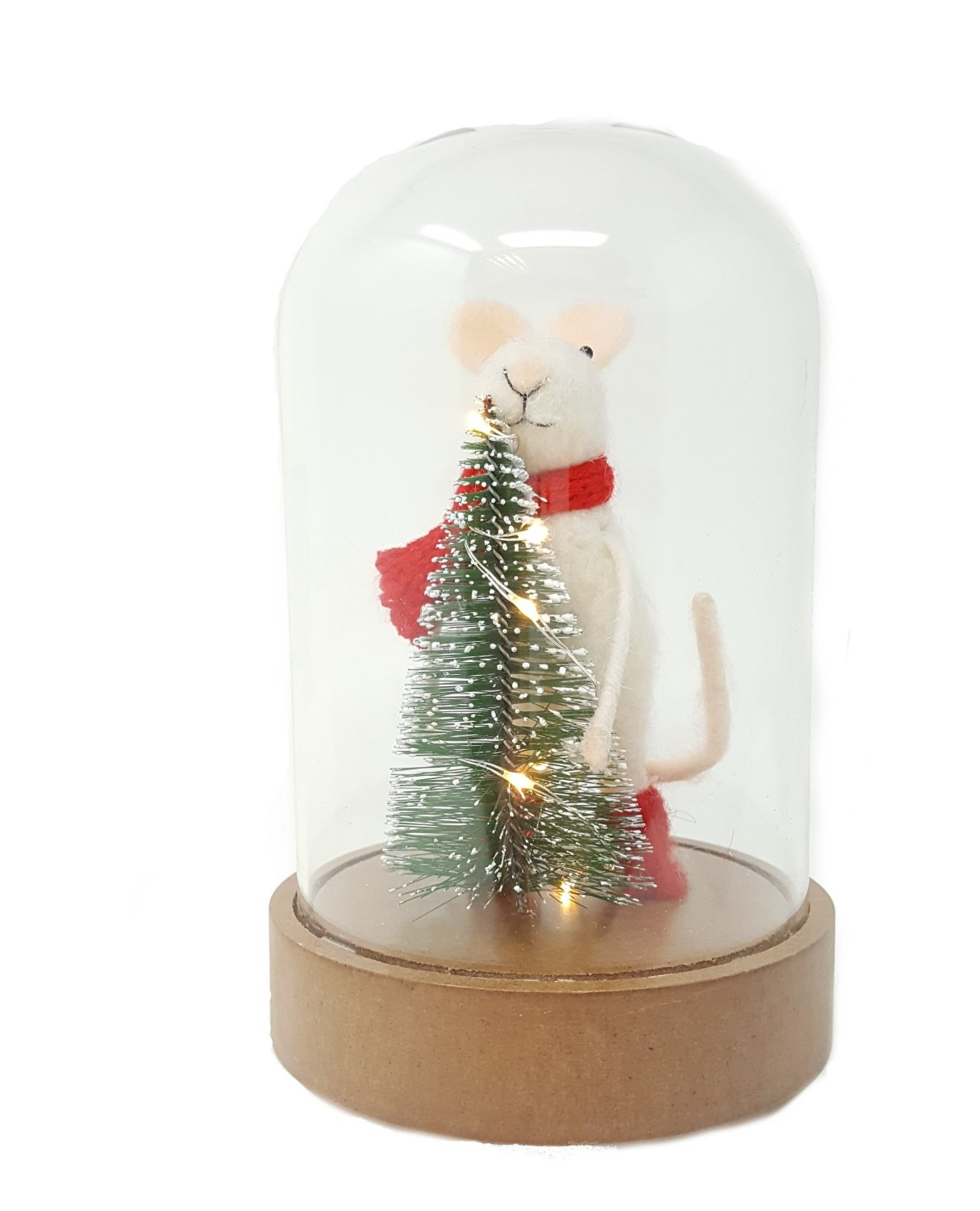 261c44300b87e9 Floss and Rock Light Up Mouse In Cloche Glass Dome Christmas Decoration (17  cm): Amazon.co.uk: Kitchen & Home