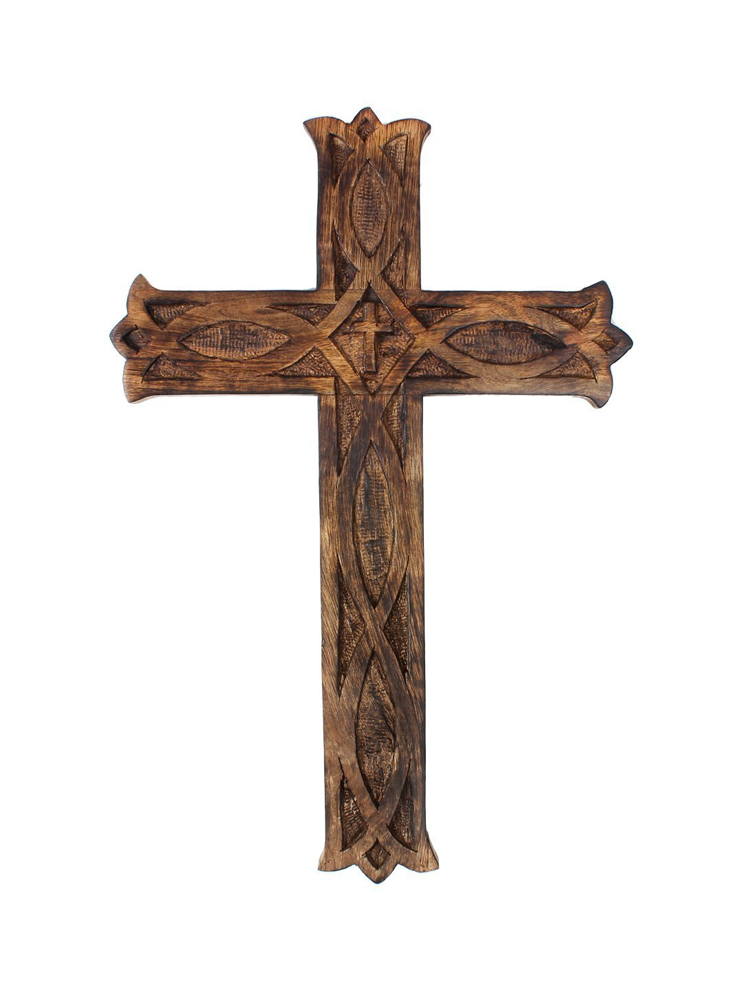 Shop amazon wall crosses decorative wall cross wooden french handmade plaque religious altar home living room home decor accessory amipublicfo Gallery