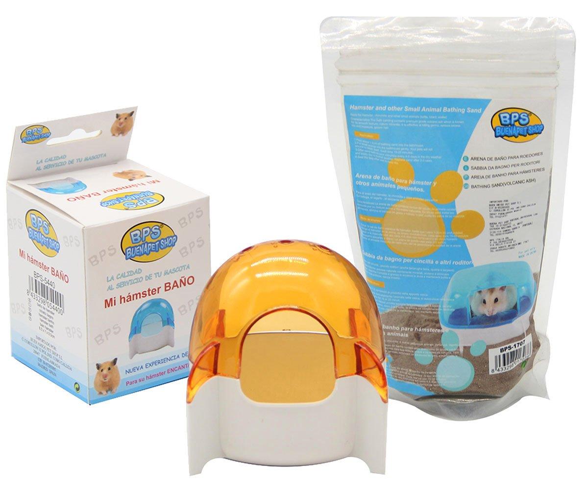 BPS® bain cage pour hamster gerbille Animal Petit avec sable de bain jerbos Bathing Sand Couleur Envoi au Hasard 8.5* 7* 9.5cm bps-5540* 1 BPS(R)