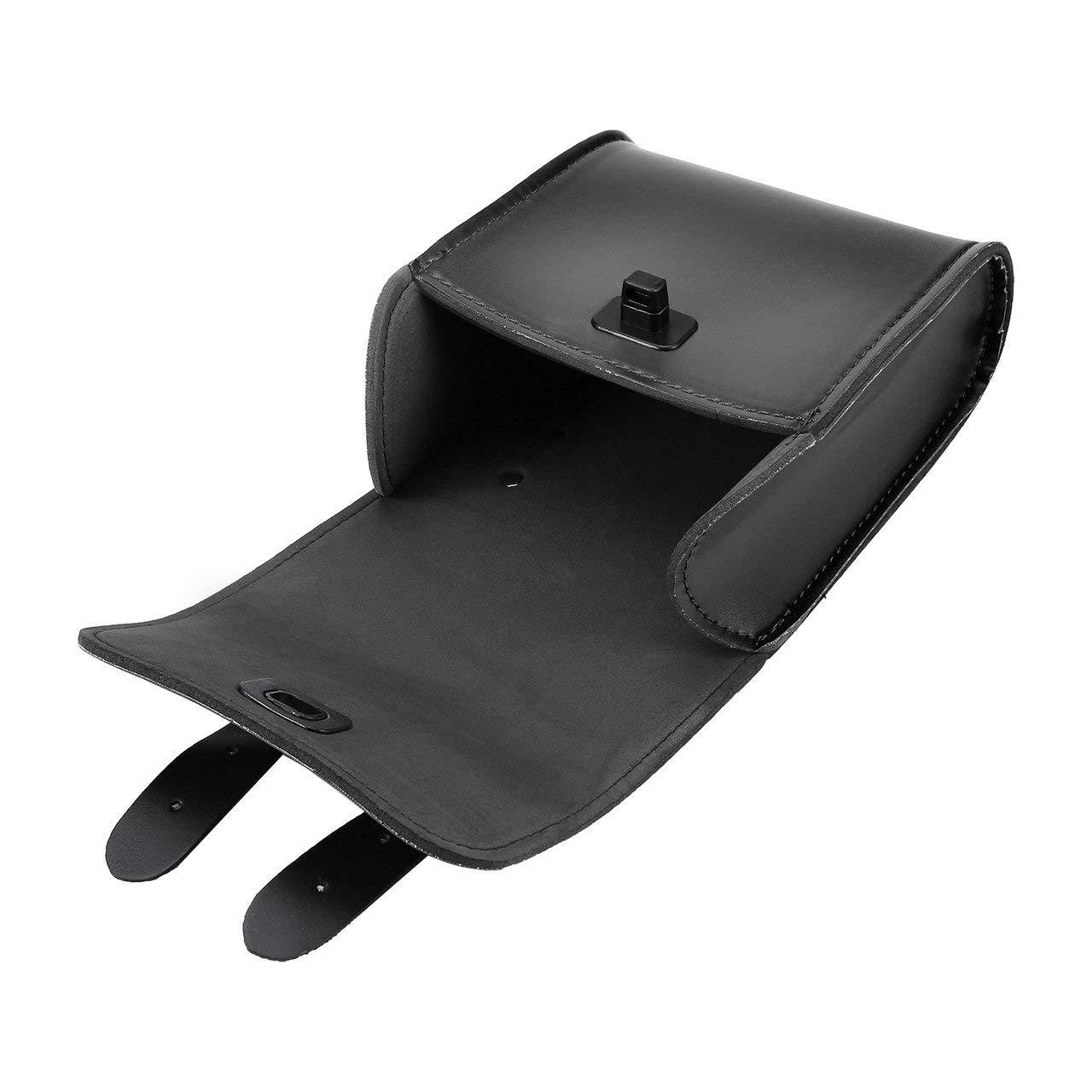 sacoche avant pour guidon FRjasnyfall Sac /à outils universel pour moto moto ou v/élo universel sac de selle en cuir synth/étique bagage noir