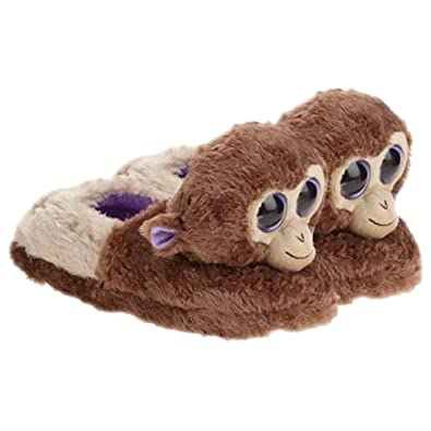 5ba4422b87e Ty Beanie Boo Girls Coconut Monkey Slippers (S (10-11))