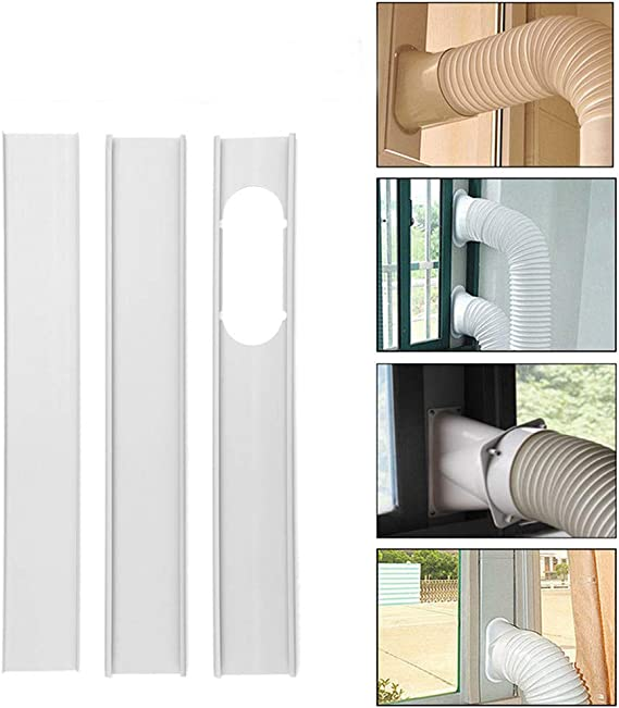 EsportsMJJ 3Pcs 1.9 M Ventana Ajustable Diapositiva Kit Placa De Aire Acondicionado Escudo De Viento Para Aire Acondicionado Portátil: Amazon.es: Bricolaje y herramientas