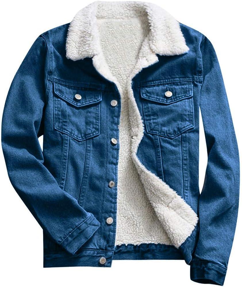 Inverlee Women Autumn Winter Denim Upset Jacket Vintage Long Sleeve Loose Jeans Coat