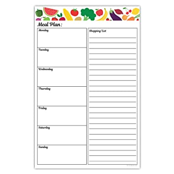 menu planner with grocery list