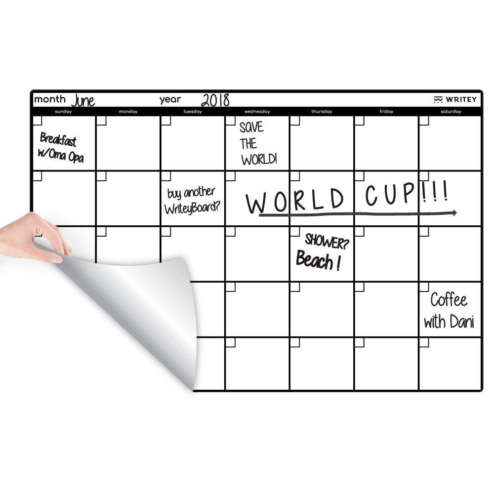 Writeyboard Restickable Dry Erase Monthly Scheduling Calendar for Wall 24 x 36