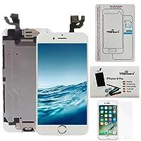 """Kit di Riparazione Vetro Schermo Per iPhone 6 Plus (5,5)"""" Bianco Ricambio Completo LCD Display - Trop Saint® con Pellicola Protettiva"""