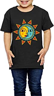 Sun Moon 2-6 Years Old Children Short Sleeve T Shirt