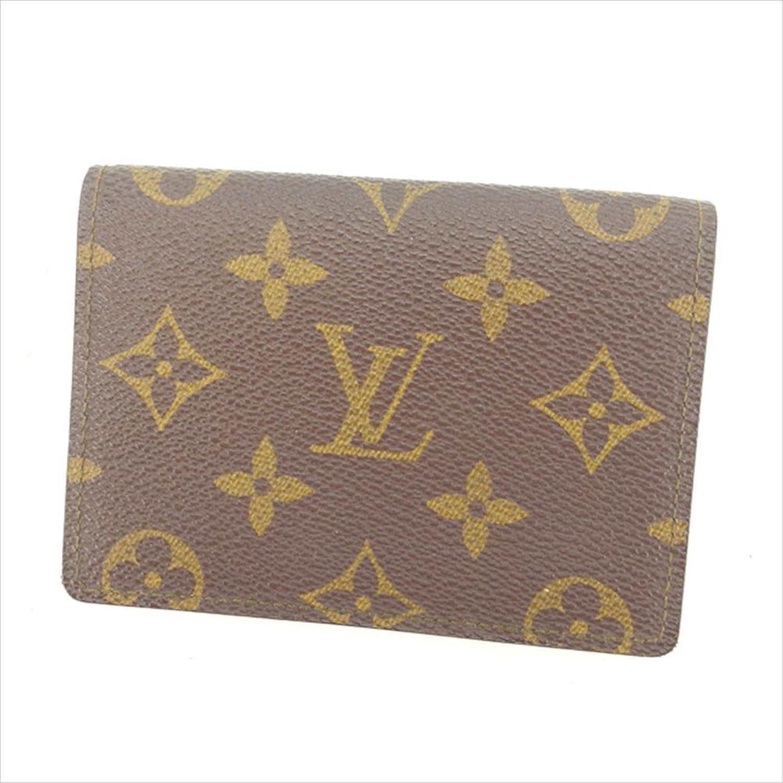 [ルイヴィトン] Louis Vuitton 定期入れ パスケース 男女兼用 ポルト2カルトヴェルティカル M60533 モノグラム 中古 Y4324 B0772S7BRB