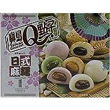 Japanischer Mochi Mix (Grüner Tee, Rote Bohnen, Erdnuss, Sesam, Ube / Reiskuchen 20 x 30g, 600g
