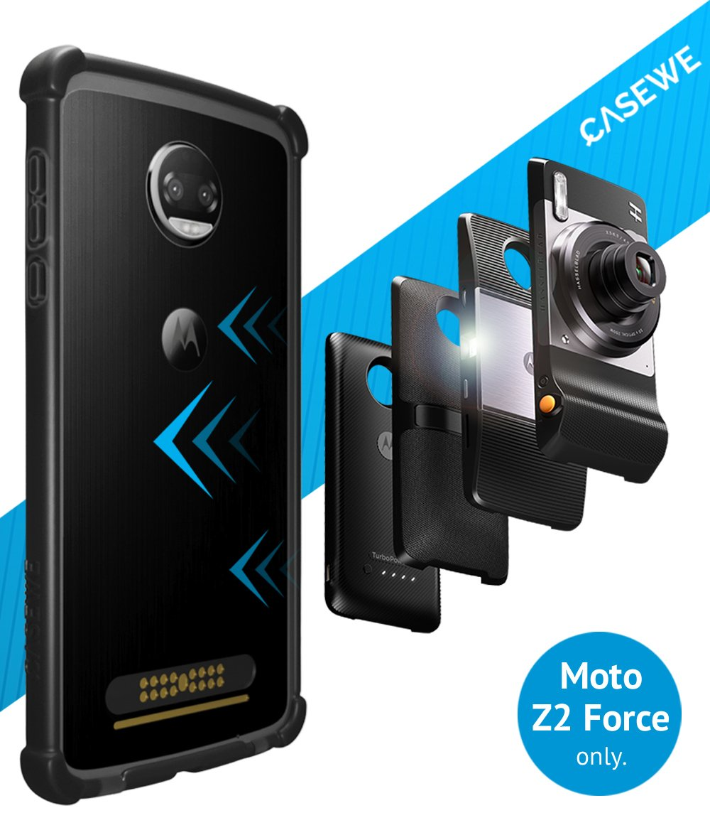 Details about Motorola Moto Z2 Force Protective Bumper Case Cover/  Compatible With Moto Mods