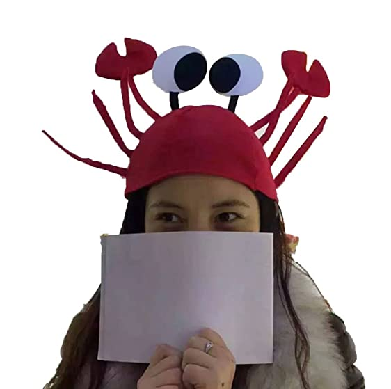 hacloser halloween christmas hat cute red lobster crab style fancy party costume cap gift for adults - Is Red Lobster Open On Christmas