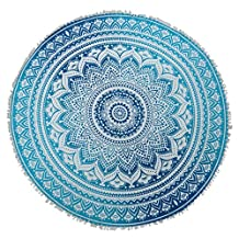 "Mandala Indian Round Tapestry Table Throw Runner Cloth Bedspread Beach Yoga Mat 80"" Diameter"