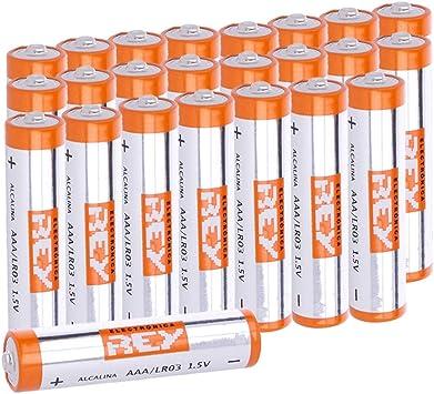 Pack de 24 Pilas Alcalinas AAA LR03 1.5V, Alta Duración: Amazon.es: Electrónica