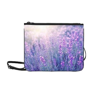 Amazon.com: Bolsa de nailon fina, diseño de flores moradas ...