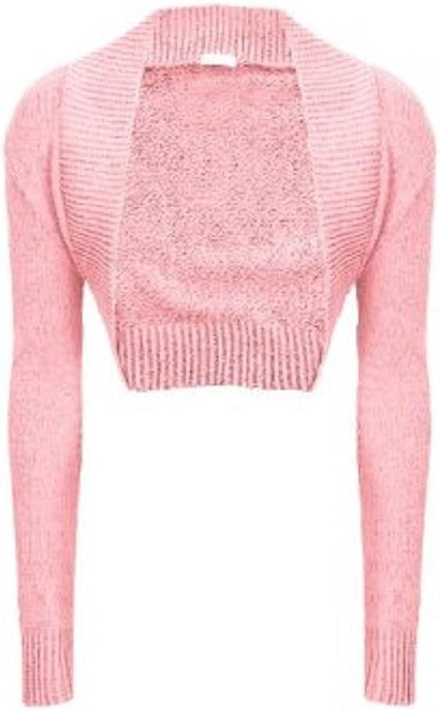 Momo/&Ayat Fashions Ladies Shrug Cotton Ruched Short Sleeve Bolero UK Size 8-14