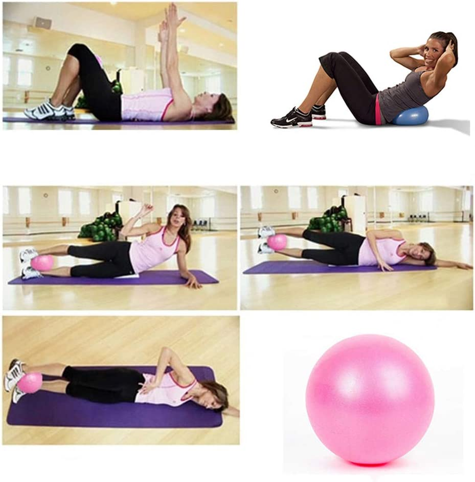 YIDADIAN Soft Pilates Ball Mini Yoga Ball Anti-Slip Gym Exercise Ball Perfect for Bender Yoga Stability Barre Pilates Core Training and Physical Therapy