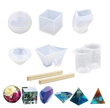 6 moldes de resina para moldes de fundición de resina, grandes, transparentes, para