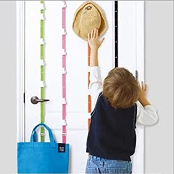 Ieasycan Over The Door Adjustable Hat Hooks 7u0026quot; Rail With 6 Coat Hooks,  No