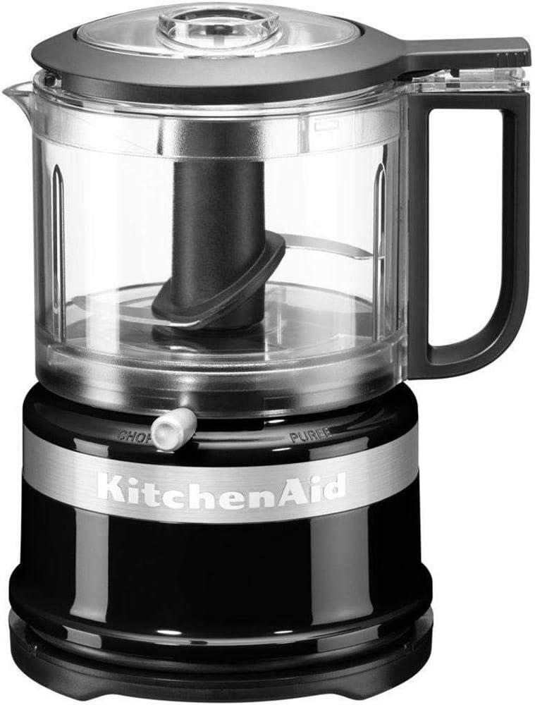 KitchenAid 5KFC3516EOB picadora eléctrica de alimentos 0,83 L Negro 240 W - Picadoras eléctricas de alimentos (0,83 L, Negro, Acero inoxidable, Acero inoxidable, 240 W, 120-220 V): Amazon.es: Hogar