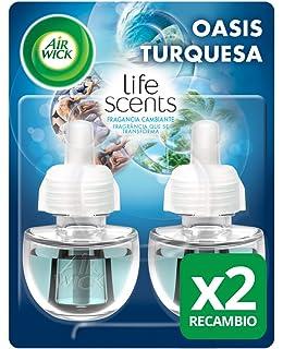 Air Wick Ambientador Eléctrico Recambio Duplo Oasis Turquesa, 2 x 19 ml - Total: