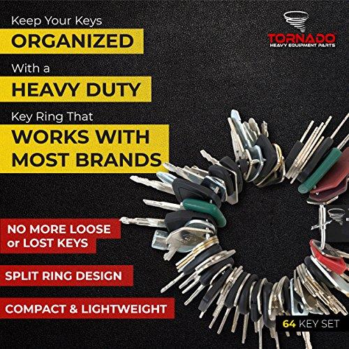 TORNADO HEAVY EQUIPMENT PARTS Construction Equipment Master Keys Set-Ignition Key Ring for Heavy Machines, 64 Key Set by TORNADO HEAVY EQUIPMENT PARTS (Image #8)
