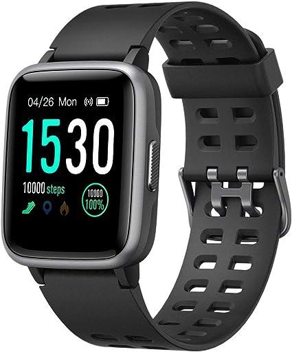 AMAY Smartwatch, Smartwatch impermeável com cronómetro, pulseira de atividade inteligente para desporto