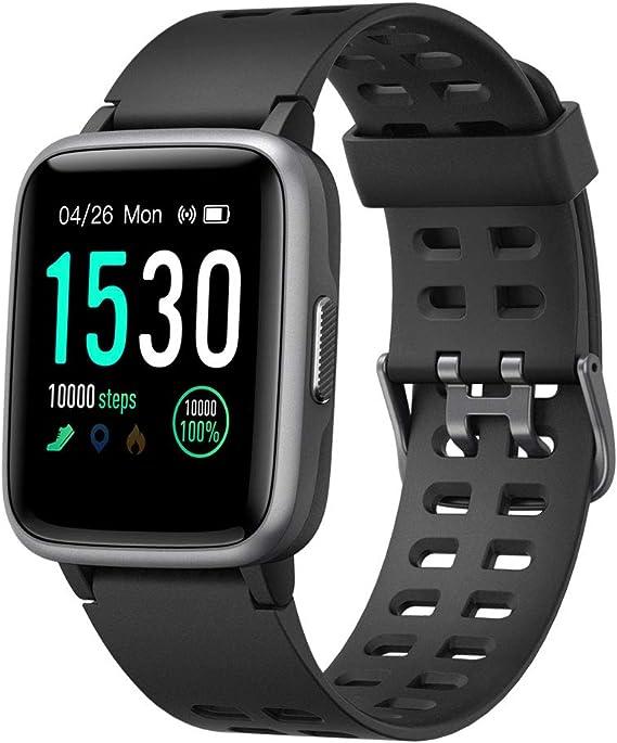 YAMAY Smartwatch, Impermeable Reloj Inteligente con Cronómetro, Pulsera Actividad Inteligente para Deporte, Reloj de Fitness con Podómetro Smartwatch Mujer Hombre para Xiaomi HuaweiI Teléfono: Amazon.es: Deportes y aire libre
