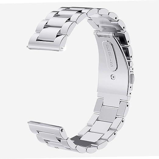 54 opinioni per V-MORO Cinturino per Samsung Gear S3, Argento 22 mm Acciaio Inossidabile