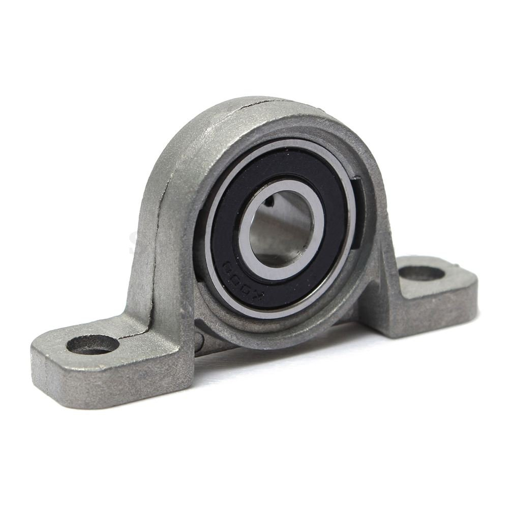 SODIAL(R) Zinc Alloy KP000 10mm Bore Diameter Ball Bearing Pillow Block Mounted Support