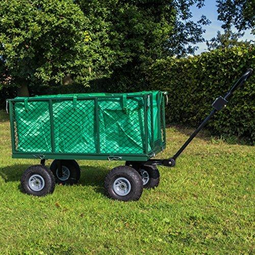 KCT Extra Large 4 Wheel Trailer Heavy Duty Garden Trolley with Lining 5060502533937