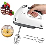 ACHAS Electric Hand Mixer Beaters, Lightweight Handheld,7-Speed,Food Beater with Two Beaters,Two Dough Hooks/Egg Beater…