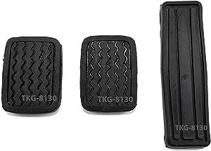 K1AutoParts Set Clutch Brake Accelerator Pedal Pad Cover For Nissan 720 / Datsun 720 Pickup 1980-1986