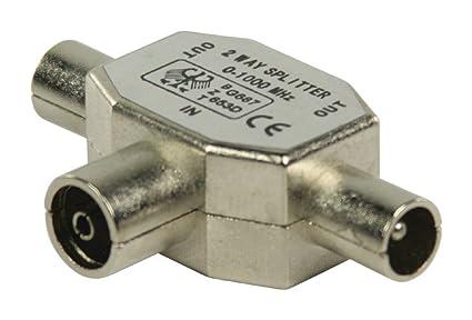 Valueline coax/2x coax - Conector coaxial (2x Coax, Coaxial, Macho/
