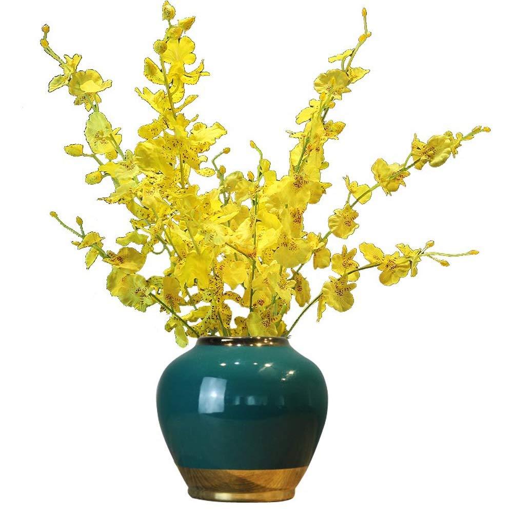 セラミック花瓶用花緑植物結婚式の植木鉢装飾ホームオフィスデスク花瓶花バスケットフロア花瓶 B07RDB8GHR
