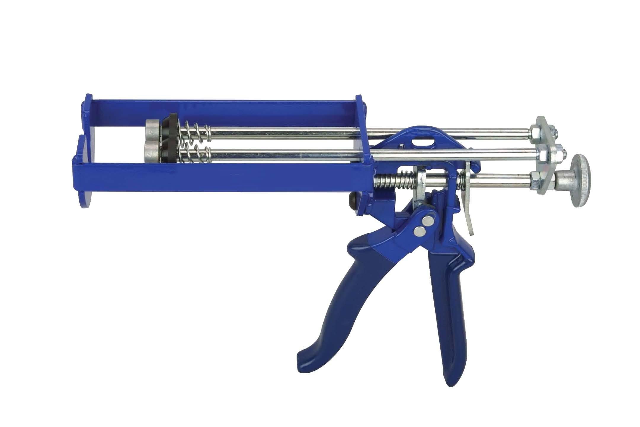Wellmade Tools 4020 Dual Cartridge Manual Epoxy Applicator Gun, 75ml x 75ml and 100ml x 100ml