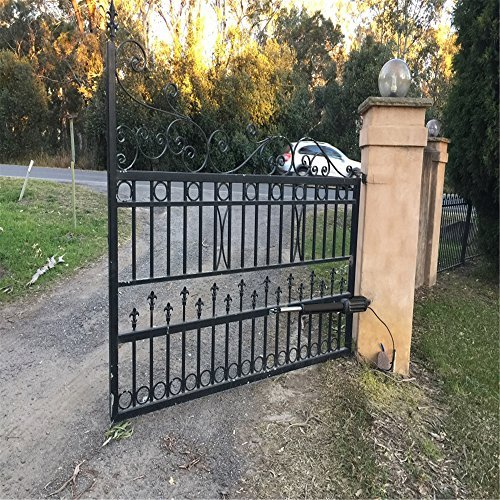 """TOPENS AD5 Automatic Swing Gate Opener for Dual Swing Gate Up to 550lbs or 16 Feet Each Leaf, Extra """"Push to Open"""" Bracket Included by TOPENS (Image #5)"""